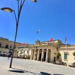 Sunshine and Shadows in Valletta