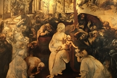 Leonardo da Vinci's Adoration of the Magi, at the Ufizzi Gallery in Florence