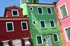 The pastel colours of Burano, Venice