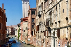 Campanile and canal in Venice