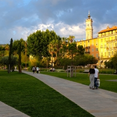 The Sun Setting in Nice