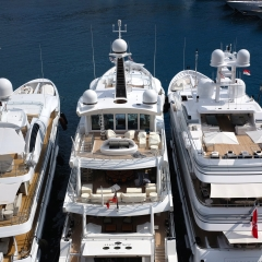 Superyachts in the Harbour